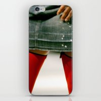 socks iPhone & iPod Skins featuring Red Socks by Premium