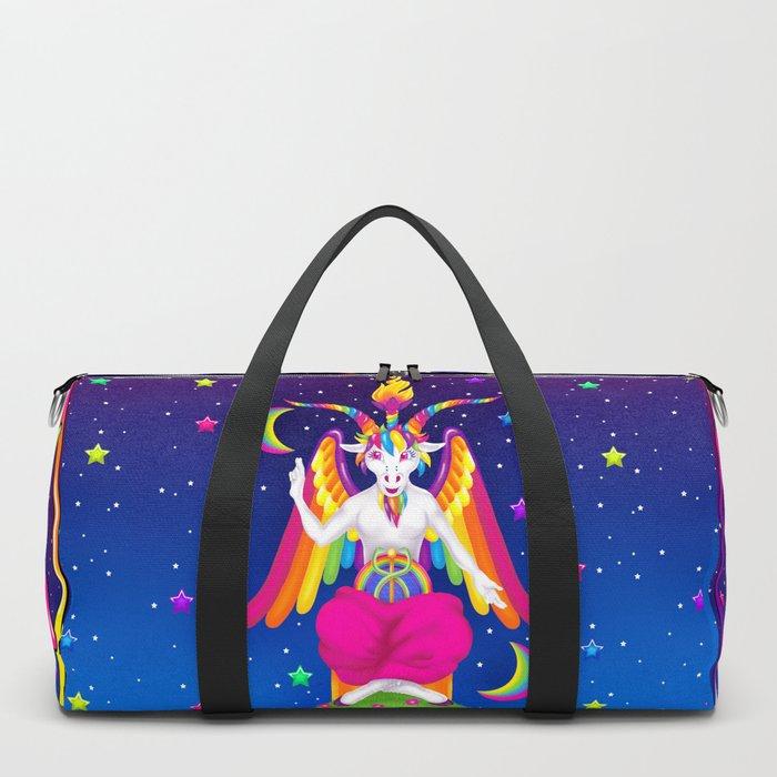 c434710c619 1997 Neon Rainbow Baphomet Duffle Bag by creepygirlclub   Society6