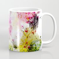 aelwen Mugs featuring Magnolia Abstract by Aelwen