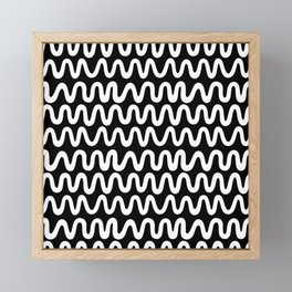 Bold B&W Waves Framed Mini Art Print
