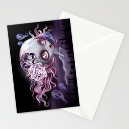 Ghostly Luna Stationery Cards