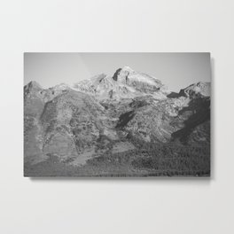 Mountain in Black and White Metal Print