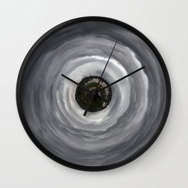 Stormy Planet Wall Clock