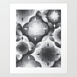 Achromatic Diamonds Art Print