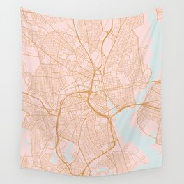 Providence map, Rhode Island Wall Tapestry