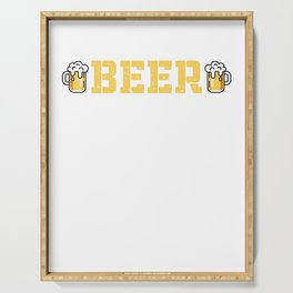 A Day Without Beer T Shirt Funny Gifts For Beer Lover Serving Tray