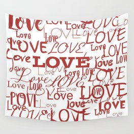 Love, love, love! Wall Tapestry
