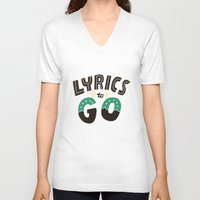 lyrics V-neck T-shirts featuring Lyrics to Go by Vaughn Fender
