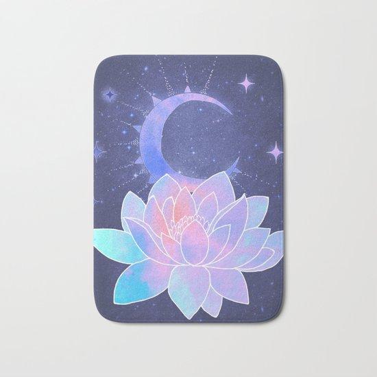 moon lotus flower Bath Mat