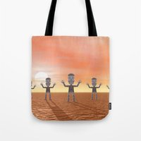 zombies Tote Bags featuring Zombies by Phil Perkins