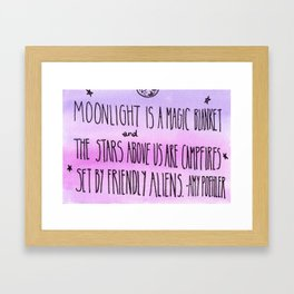 Moonlight is a Magic Blanket Framed Art Print