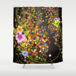 Floating Fragrances - Black Version Shower Curtain
