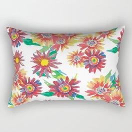 Bright watercolor daisies Rectangular Pillow