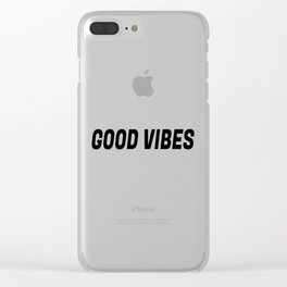 Good Vibes in Threes in Black Clear iPhone Case