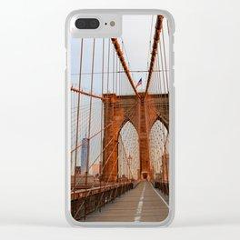 Brooklyn Bridge Sunrise Clear iPhone Case