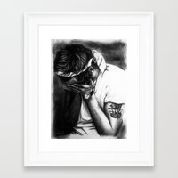 cyrilliart Framed Art Prints featuring Charcoal Harry by Cyrilliart