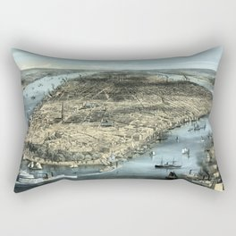 Vintage New York City - Circa 1850 Rectangular Pillow