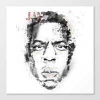 jay z Canvas Prints featuring Jay Z by I AM DIMITRI