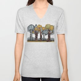 Autumnal Grove Unisex V-Neck