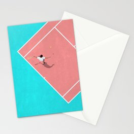 Pastel Tennis Court From Above  Stationery Cards