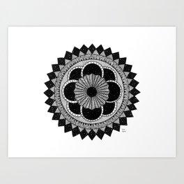 Mandala byn Art Print