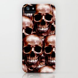 LG skull wall iPhone Case