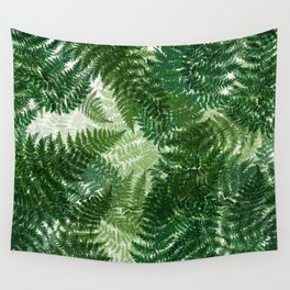 green big jungle leaves Wall Tapestry