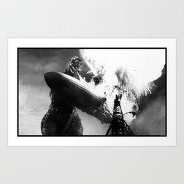 Godzilla vs Hindenburg Art Print