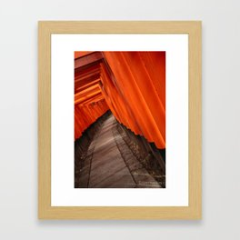 Sea of Red Framed Art Print