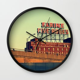 montreal five rose  Wall Clock