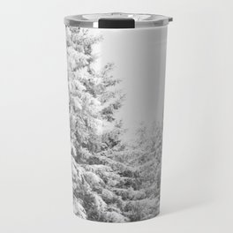 Chairlift Abyss // Black and White Chair Lift Ride to the Top Colorado Mountain Artwork Art Print Travel Mug