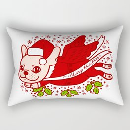 Christmas with a Frenchie Rectangular Pillow