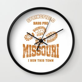 Missouri Runners I Run This Town Cross Country Runner Wall Clock