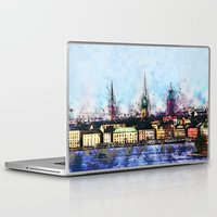 stockholm Laptop & iPad Skins featuring Stockholm Syndrome by Ville Munter