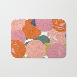 Flowers In Full Bloom Bath Mat