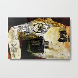 The War - Paper Collage, Painting, and Digital treatment Metal Print