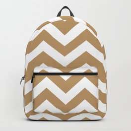 Camel - brown color - Zigzag Chevron Pattern Backpack