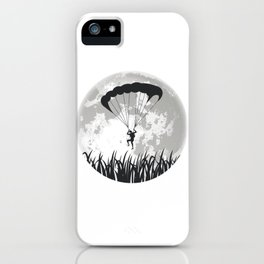 Paragliding Full Moon iPhone Case