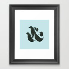 Birds & Bees Framed Art Print