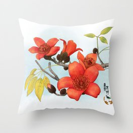 Tree Cotton Flower (Common Bombax) Throw Pillow