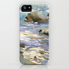 Stream and Rocks by John Singer Sargent, 1901 iPhone Case