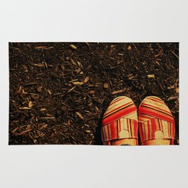 Shoes in the Mulch Rug