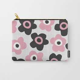 Black and pink flowers Carry-All Pouch