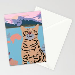 Cat in natue Stationery Cards