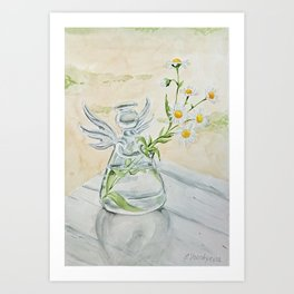 Summer angel Art Print