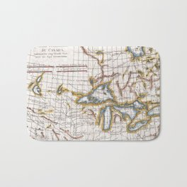 Vintage Map of The Great Lakes & Canada (1780) Bath Mat