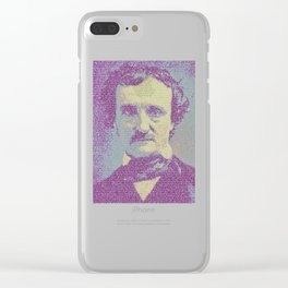 Edgar Allan Poe. Clear iPhone Case