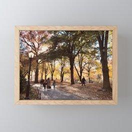 Fall in Central Park Framed Mini Art Print