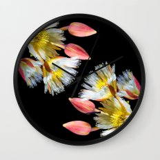 Bold and Wild Flowers Wall Clock