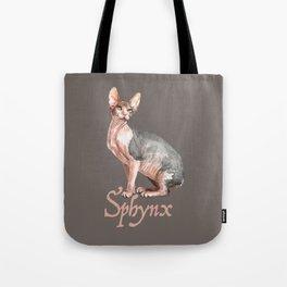 Sphynx watercolour Cat Tote Bag